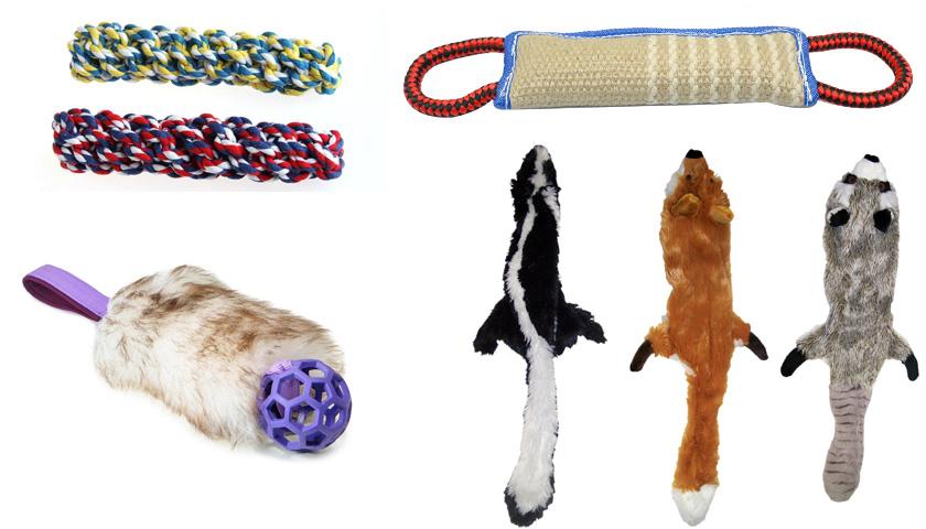 Собачьи игрушки для игры в перетяжки